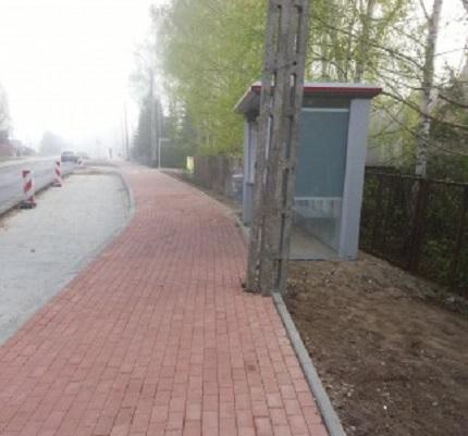 Przystanek przy trasie rowerowej ul. Julianowska