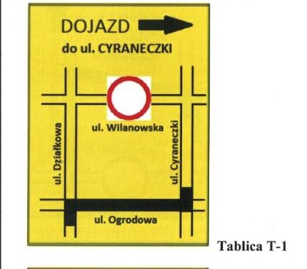 Wilanowska objazd 1