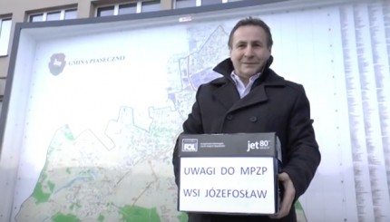 Sołtys Józefosławia Jan Adam Dąbek fot. YouTube Paweł Chorzempa