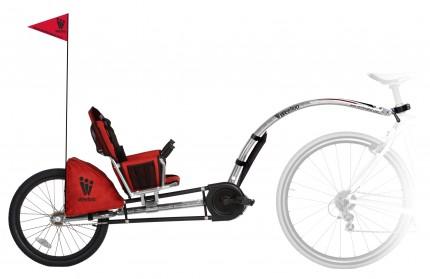 Weehoo - przyczepki rowerowe - I go profile_nobackground_whitereflector_flag_051409.jpg