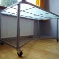 sprzedam biurko Ikea na kółkach, szklany blat - DSC07407.JPG