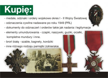 Kupię medale, ordery wojskowe, znaczki pocztowe i monety - ulotka_s1.jpg