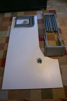 BIURKO IKEA GALANT narożne białe z dostawką i dodatkami - IMG_2844a.jpg