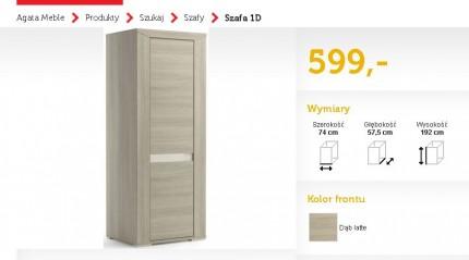 Szafa Dąb Sonoma do sprzedaży_stan idealny - madras.JPG