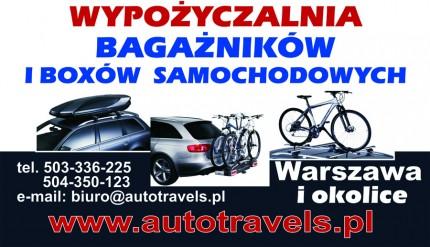 Wypożyczalnia bagażników i boxów samochodowych Thule Piaseczno i okolice - Baner_autotravels.jpg