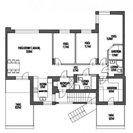 Apartament bezpośrednio ! 113m2, stan deweloperski, 5 pokoi przy Lesie Kabackim - E4 pierwotny rzut.jpg