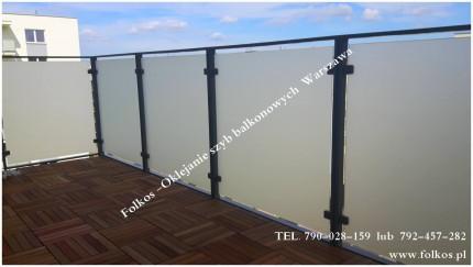 Folie na okna łazienkowe -balkony, witryny, drzwi i okna Józefosław - Balkon Skorosze Folkos.jpg
